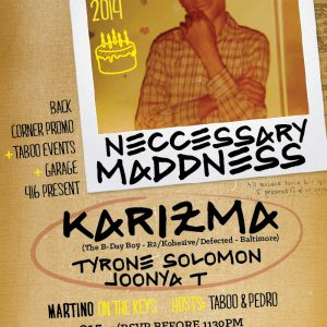 KARIZMA BDAY JAM @ WRONGBAR [MARCH 28. 2014] (Toronto, CA)