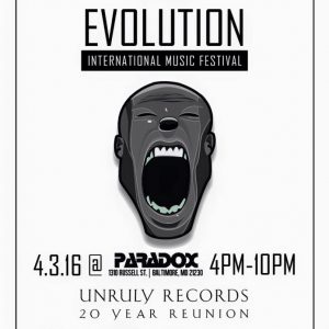 EVOLUTION @ PARADOX [APRIL 3. 2016] (BALTIMORE, MD)