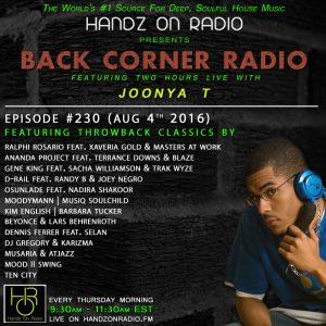 BACK CORNER RADIO [EPISODE #230] #ThrowBackThursday [AUG 4. 2016]
