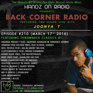 BACK CORNER RADIO [EPISODE #210] #TBT (MARCH 17. 2016)