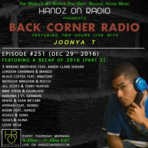 BACK CORNER RADIO [EPISODE #251] DEC 29. 2016 (2016 RECAP PART 2)