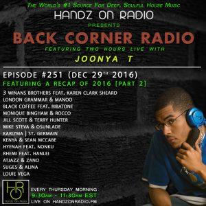 BACK CORNER RADIO [EPISODE #251] DEC 29. 2016 (2016 RECAP PART 2)