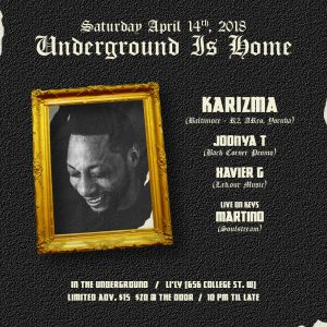 UNDERGROUND IS HOME w/ @KAYTRONIK (SAT. APRIL 14) [Toronto]