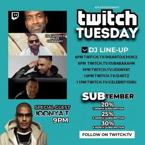 TWITCH TUESDAY w/ Special Guest JOONYA T (TUES. SEPT. 15, 2020) [TWITCH.TV]